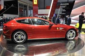 Презентация Ferrari Four в Женеве